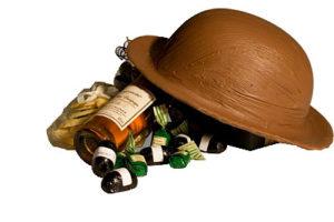 geschenkpakket met hoed