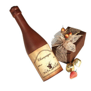 Chocolade champagnefles