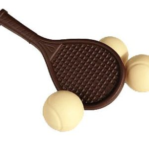 tennisracket in chocolade