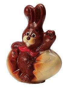 gebarsten ei chocolade