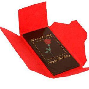 wenskaart verjaardag chocolade