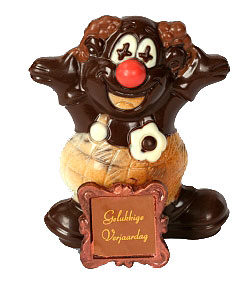 clown in chocolade