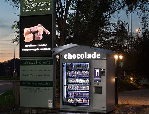 Chocolade automaat 24/24u