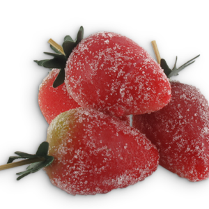 Aardbeien in marsepein