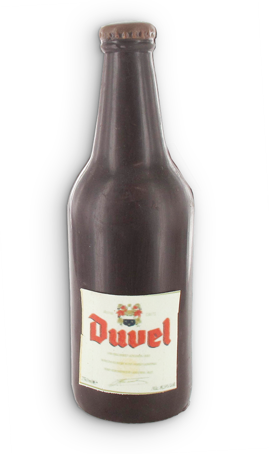 Duvel fles in chocolade