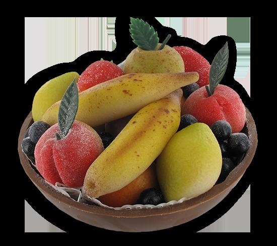 Fruitschaaltje in marsepein