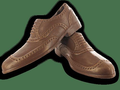 grote schoenen in chocolade