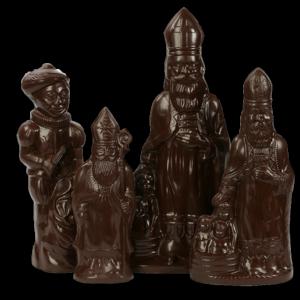 Grote sinterklaasfiguren in chocolade