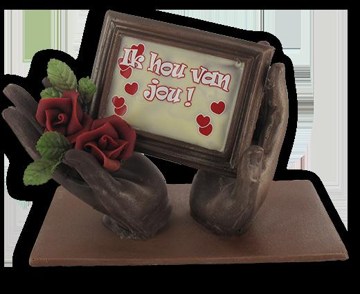 Creatie voor Valentijn met handen