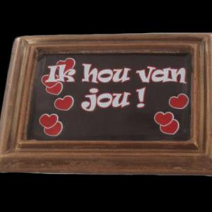 Bedrukt kadertje voor Valentijn