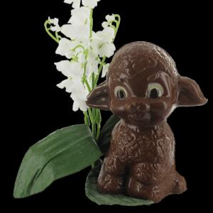 klein schaapje in chocolade