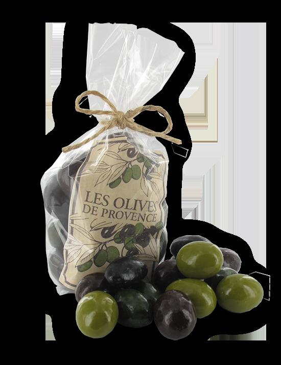 olijven van chocolade