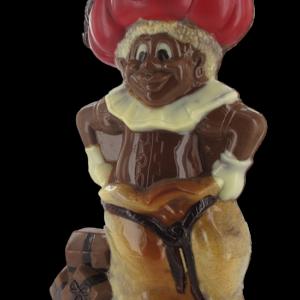 Gekleurde piet in chocolade