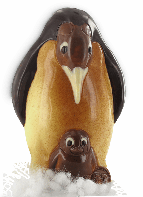 pinguin in chocolade