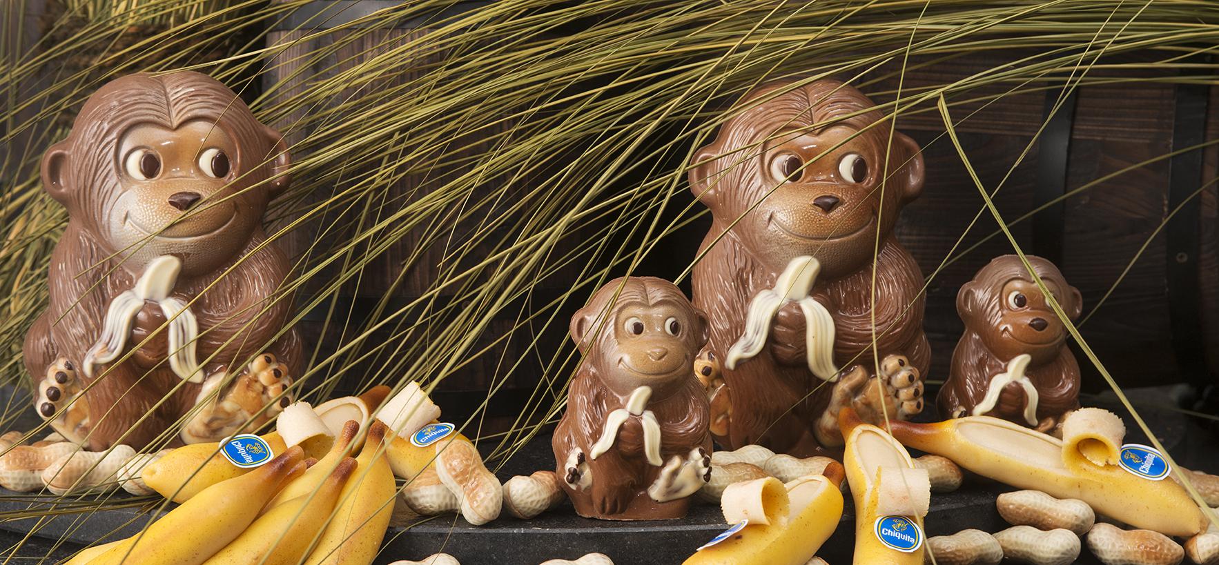 apen met bananen