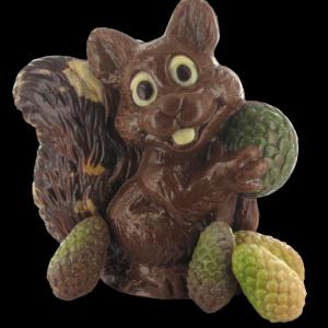 eekhoorn met denne-appels
